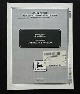 """ORIGINAL JOHN DEERE 48"""" & 54"""" LAWN TRACTOR MOWER DECK OPERATORS MANUAL 1994-00"""