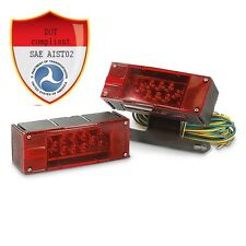 12V LED Submersible Waterproof trailer lights led kit with wiring Multi-Function