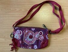 Kipling over the shoulder red floral bag keyring