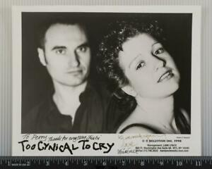 Too Cynical To Cry Autograph Signed 8x10 B&W Promo Promotional Photo tob