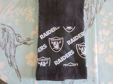 Hand Towels! FOOTBALL ! RAIDERS! Black and White STADIUM Towel