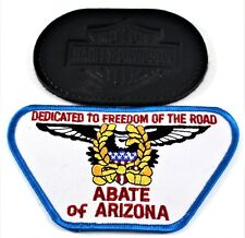 ABATE of Arizona Dedicated to Freedom of the Road & Harley Davidson Vest Patches