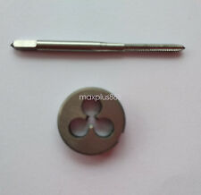 1pc HSS Machine M1.7 X 0.35mm Plug Tap and 1pc M1.7 X 0.35mm Die Threading Tool