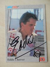 Eddie Cheever Autographed 1991 A&S Racing Card