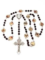 Stations of the Cross Chaplet Via Crucis Rosary with Enamel Medals