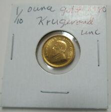 SOUTH AFRICA 1980 UNCIRCULATED 1/10 oz .999 FINE GOLD KRUGERRAND!!