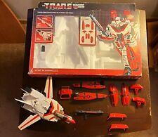 USED Jetfire G1 1984 Transformers w Rifle Clip w Original Box