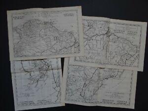 1780 BONNE  Atlas 4 x maps  COLUMBIA - BRAZIL - GUYANA - South America