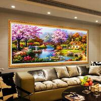 5D Diamond Painting Scenic Plant Flower House Landscape DIY Wall Decor Craft Pos