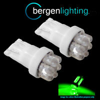 2X W5W T10 501 XENON GREEN 7 DOME LED SIDELIGHT SIDE LIGHT BULBS HID SL100403