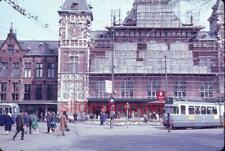 Slide Photo Amsterdam Holland Street Scenes Trolley Boats LOT in 1967