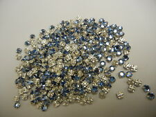 350 swarovski rose montees,12ss light sapphire/sterling plate finish