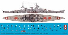 Peddinghaus 1/1250 Scharnhorst German Battleship Markings Baltic 1940 WWII 3260