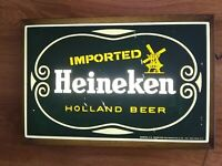 Vintage Heineken Wall Light Up Lighted Wall Beer Sign By Phase Four 20 x 13