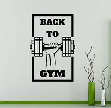Fitness Gym Logo Wall Vinyl Decal Sport Emblem Vinyl Sticker Window Stickers 17
