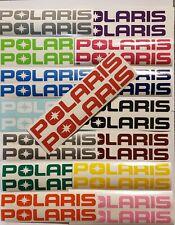 Polaris Premium Vinyl 2 Pack Decals Pick Your Color & Size Ships Fast!