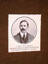 Avvocato G.B. Munari Assassinato dall'amante Teresa Vanin in Venezia 11.04.1908