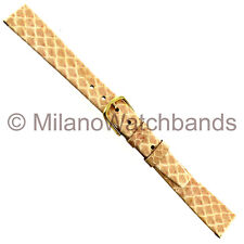 13mm Gilden Genuine Snake Salmon Color Flat Unstitched Ladies Watch Band Short