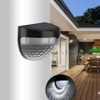 2Pcs 6-LED Outdoor Waterproof Solar Lamp Light Wireless Fence Lights for Garden