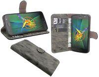 Lenovo Motorola Moto G5S PLUS / Tasche Schutz Cover Case Etui Buchform Anthrazit