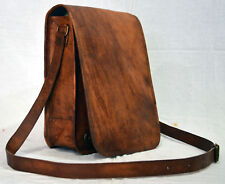 Leather Vintage Messenger Shoulder Bag Men Satchel S Laptop School Briefcase New