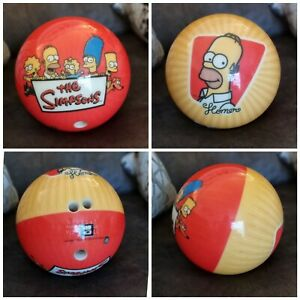 Brunswick Bowling Ball Rare Homer Simpson 10.4 Lb viz a ball