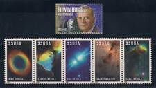 ASTRONOMER EDWIN HUBBLE + TELESCOPE IMAGES - SET OF 6 STAMPS - MINT CONDITION