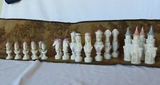 Chess set collection ceramic figurine Queens Kings Medieval décor