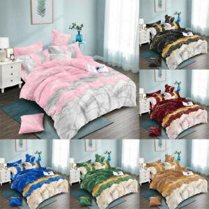 8 Size Bedding Sets Microfiber Fabric Duvet Cover & Pillowcase Set  Single Doubl