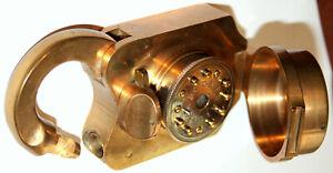 'U.S. Treasury Lock'. Clarke Combination Padlock - c.1877. Rare.