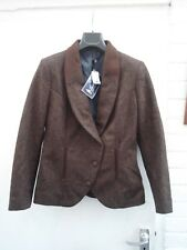 JACK MURPHY NICOLE TWEED JACKET  SIZE 12 100% WOOL ONE ONLY SEE PICTURES
