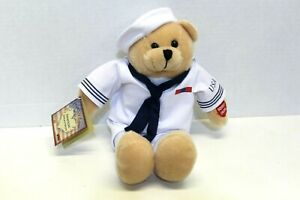 Chantilly Lace American Military Heroes Navy Plush Bear Sings Anchors Away