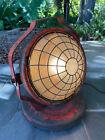 Vintage Dietz Fire Fighter Shop Spot Light Roller Wheels Great Working Lens 50s