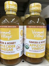 Apple Cider Vinegar Vermont Village Ginger & Honey Lot Of 2