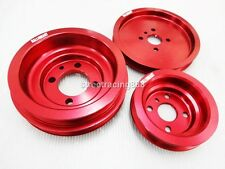 Aluminum Pulley Kit Mitsubishi 4G63 Lancer Evo 1 2 3 VR4  Eclipse Talon Turbo