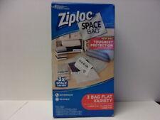 Ziploc Reusable Space Bag Vacuum Seal Set of 3,1 Large, 1 XL & 1 Jumbo Flat #402