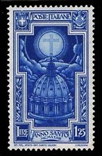 1933 ITALY #309 CROSS WITH DOVES - OGH - VF - CV$12.00 (ESP#1385)
