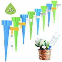 12PCS Plant Self-Watering Spikes Devices Automatic Drip Irrigation with Switch