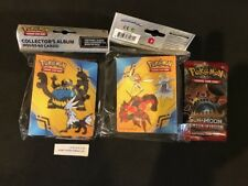 NEW Pokemon SUN & MOON Crimson Invasion Mini album binder holds 60 cards + PACK