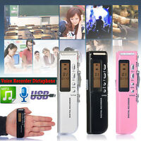 Portable 8GB USB LCD Screen Digital Audio Voice Recorder Dictaphone MP3 Player
