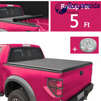 """Tonneau Cover Soft Roll Up For Chevy Colorado GMC Canyon 2015-2019 5ft 60"""" Bed"""