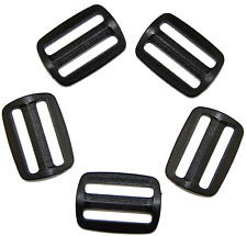 Schieber Stopper aus Kunststoff schwarz versch. Mengen, 16mm, 20mm, 25mm, 30mm