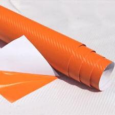 "12""x50"" 3D Texture Carbon Fiber Wrap Vinyl Decal Car Sticker Sheet 30x127cm"