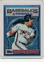 1993 Topps Finest #57 Carlos Baerga Cleveland Indians Baseball Card