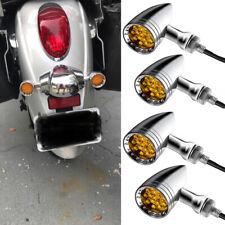 4x Motorcycle Led Turn Signal Blinker Lights For Kawasaki Vulcan Vn 900 500 1500