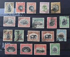NORTH BORNEO 1894-1909: 19 USED STAMPS WITH GOOD VALUES