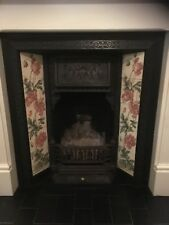 cast iron fireplace insert and surround