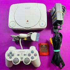 PlayStation 1 PS One Slim White Console w/Controller & Cords - PAL *Complete*