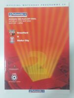 2002 DIVISION 2 PLAY OFF FINAL PROGRAMME  - BRENTFORD V STOKE CITY
