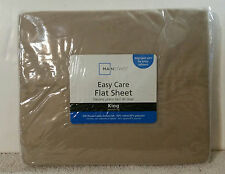 Mainstays King Size Bed Tan Flat Sheet ONLY